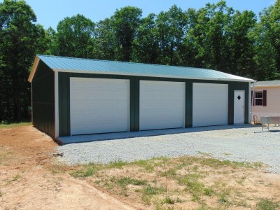 Garage with Side Entries | Vertical Roof | 22W x 41L x 9H | Metal Garage