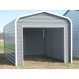 Single Garage | Regular Roof | 18'W x 21'L x 7`H |  1-Car
