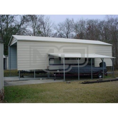 Carport | Vertical Roof | 12W x 41L x 11H | RV Carport