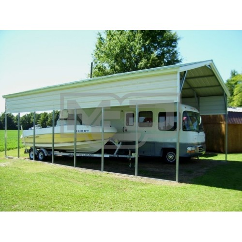 Carport | Vertical Roof | 18W x 36L x 12H RV Boat Carport