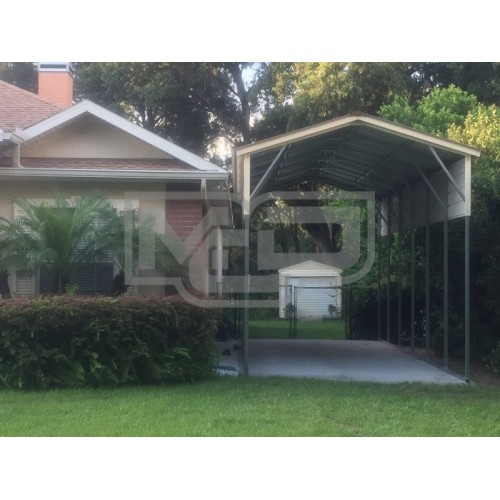 Carport | Vertical Roof | 12W x 31L x 12H Metal RV Carport Cover Copy