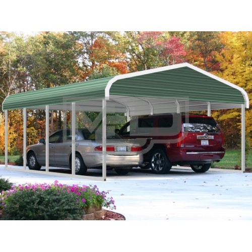 5 Car Metal Carport : Regular style double carports