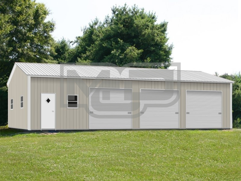 Metal Building | Vertical Roof | 24W x 41L x 9H |  Shop Building