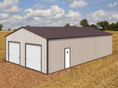 Pre-Fab Metal Building | Vertical Roof | 30W x 51L x 12H | Steel Buildings