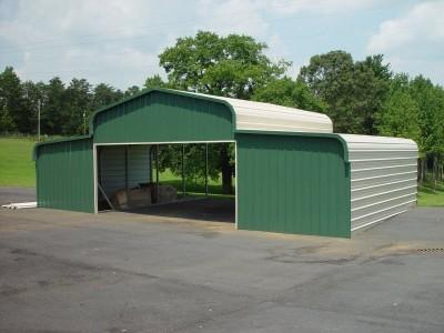 Barn Shelter | Regular Roof | 42W x 21L x 9H | Metal