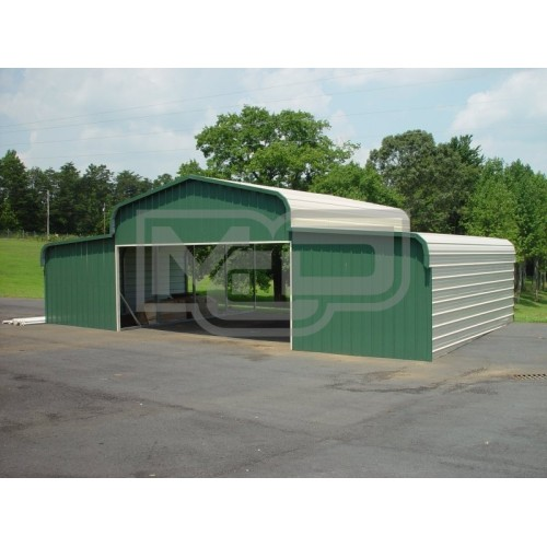 Barn Shelter | Regular Roof | 42W x 21L x 9H | Metal