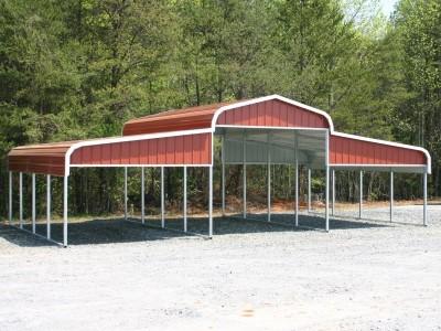 Metal Barn Shelter | Regular Roof | 36W x 21L x 10H | Metal Ag Shelter