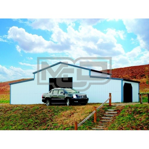Carolina Steel Barn | Vertical Roof | 44W x 21L x 12H | Metal Barn