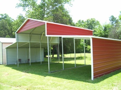 Metal Barn | Boxed Eave Roof | 42W x 21L x 12H | Shelter