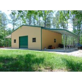 Enclosed Metal Barn | Vertical Roof | 54W x 31L x 12H |  Metal Shop