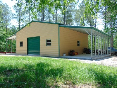 Enclosed Metal Barn | Vertical Roof | 54W x 31L x 12H |  Metal Shop