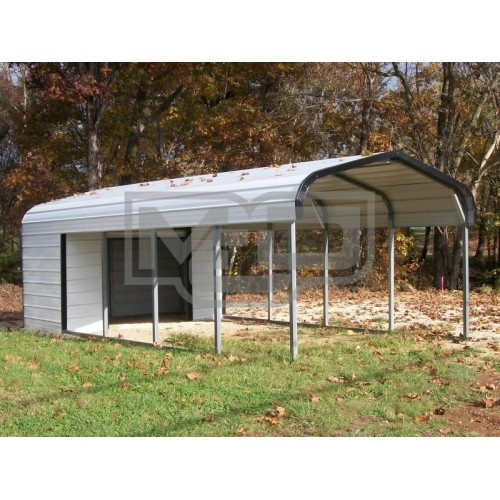 Carport | Regular Roof Roof | 12W x 26L x 6H Utility Carport