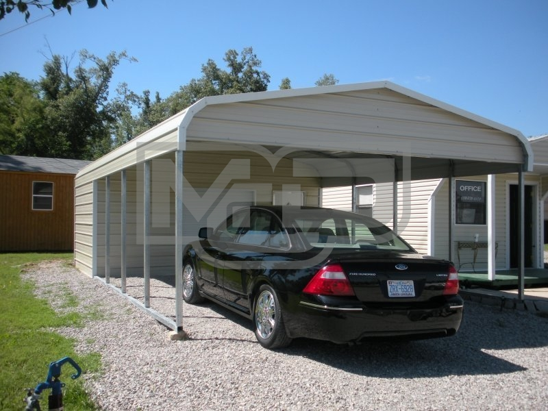 Carport | Regular Roof | 18W x 26L x 7H Utility Carport Combo