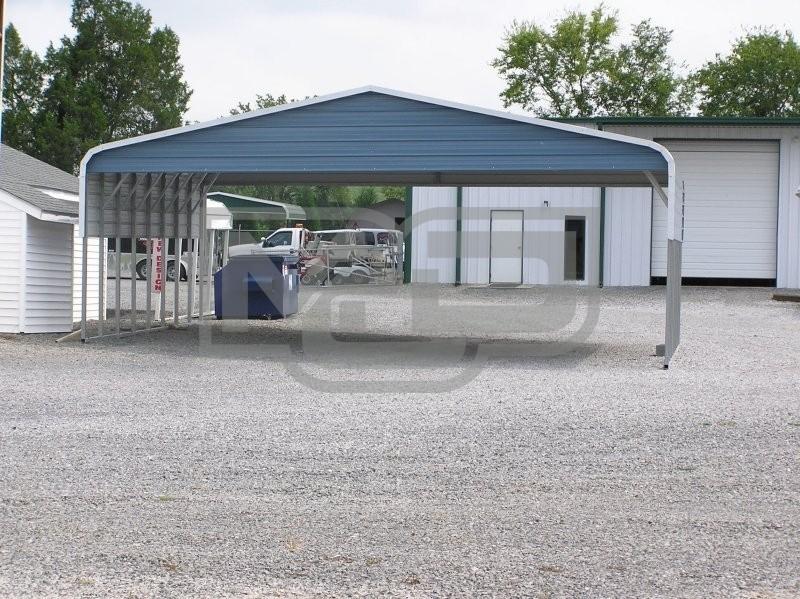 Carport Regular Roof 30w X 26l X 8h Triple Wide