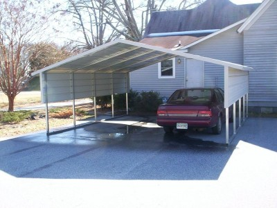 Carport | Boxed Eave Roof | 18W x 21L x 6H