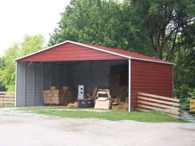 Carport | Boxed Eave Roof | 28W x 26L x 12H | Triple-Wide