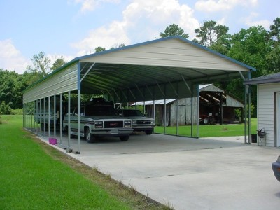Carport   Vertical Roof   24W x 61L x 10H   2 Panels   2 Gables