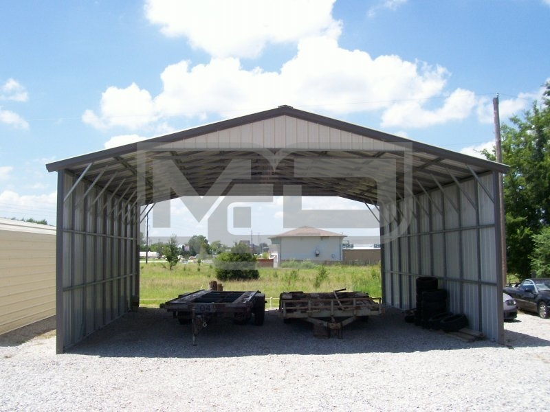 Carport | Vertical Roof | 30W x 36L x 12H | Triple-Wide
