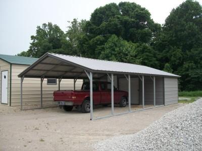 Carport | Vertical Roof | 18W x 36L x 7H Utility