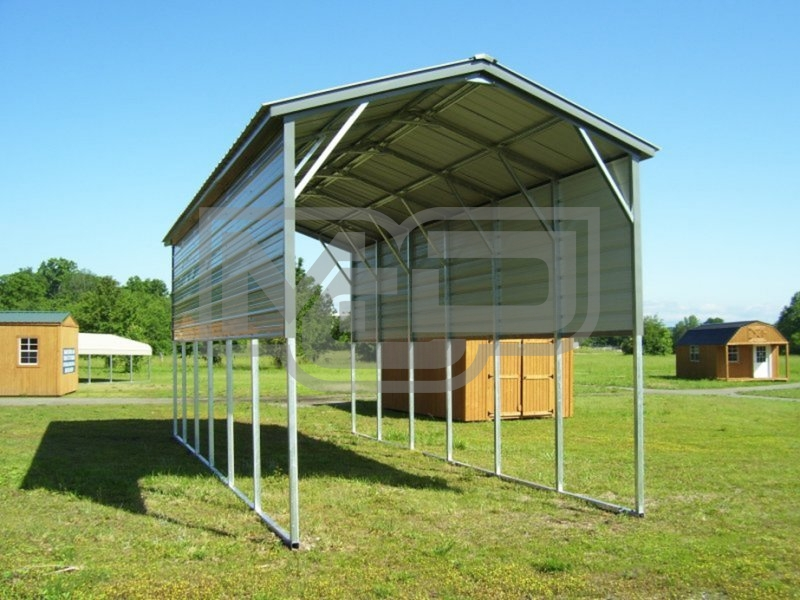 Carport | Vertical Roof | 12W x 31L x 12H Metal RV Carport Cover