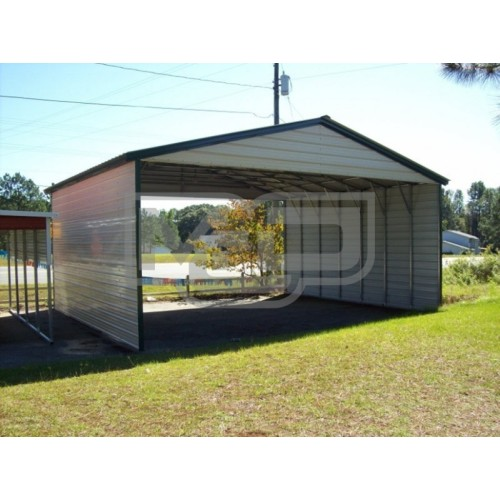 Carport | Vertical Roof | 30W x 26L x 10H Triple-Wide