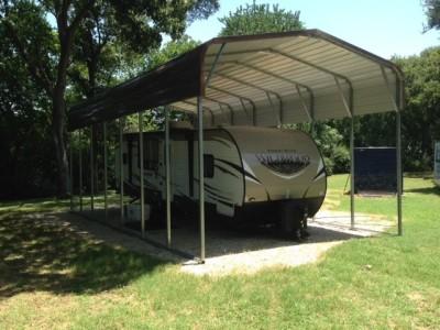 Carport | Regular Roof | 18W x 36L x 12H | Metal RV Camper Shelters
