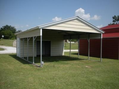 Carport   Vertical Roof   20W x 26L x 7H Utility