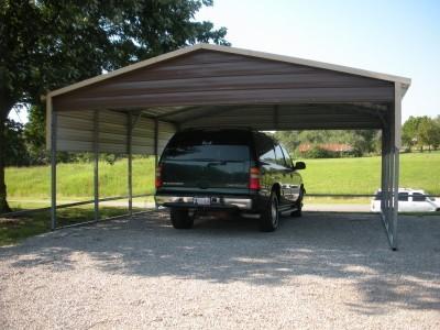 Carport   Boxed Eave Roof   22W x 21L x 7H