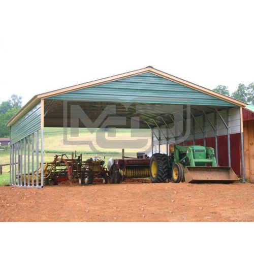 Carport | Vertical Roof | 30W x 36L x 8H Triple-Wide