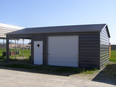 Garage   Boxed Eave Roof   22W x31 L x 9H    Boxed Eave Garage