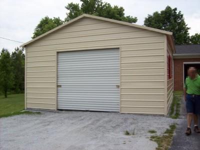 Garage | Boxed Eave Roof | 20W x 26L x 9H |  1-Car Garage