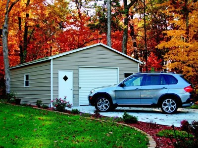 Garage | Boxed Eave Roof | 20W x 21L x 8H |