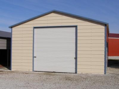 Garage | Boxed Eave Roof | 20W x 21L x 10H | Enclosed Garage