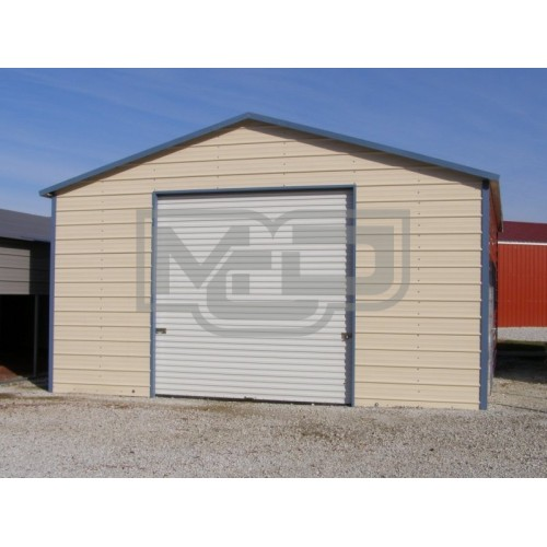 Garage | Boxed Eave Roof | 20W x 21L x 10H | Enclosed Garage