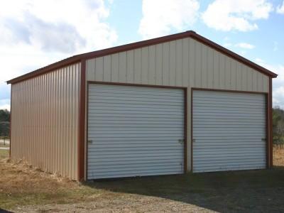 Garage   Vertical Roof   22W x 26L x 9H    All Vertical Garage