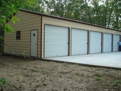 Enclosed Steel Building | Vertical Roof | 24W x 51L x 10H |  Workshop