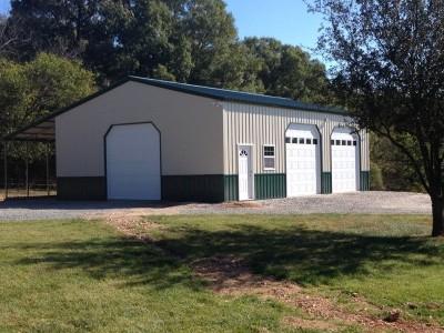 Enclosed Workshop | Vertical Roof | 30W x 41L x 14H |  Metal Shop