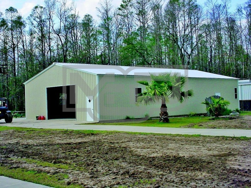 Pre-Fab Metal Building | Vertical Roof | 30W x 61L x 12H |  Steel Buildings