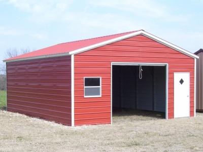Garage | Vertical Roof | 20W x 26L x 8H |  Single Car Garage