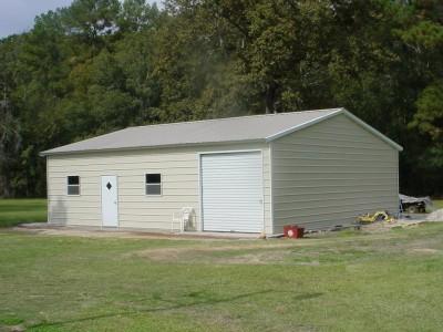 Steel Shop Building | Vertical Roof | 24W x 36L x 9H | Workshop