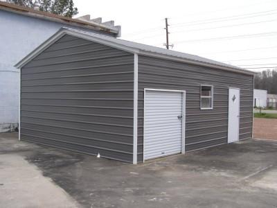 Metal Garage   Vertical Roof   20W x 26L x 8H    Metal Building