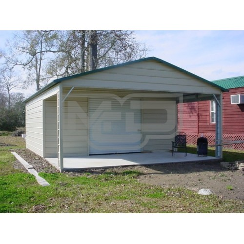 Utility Garage | Vertical Roof | 18W x 31L x 8H |  Combo Garage