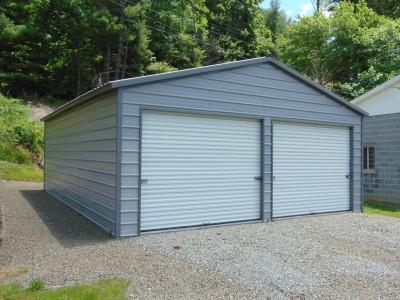 2-Car Garage | Vertical Roof | 24W x 31L x 9H | Metal Garage