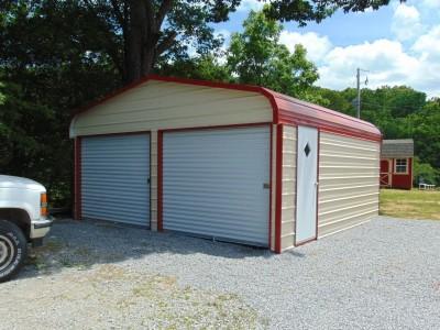 Two-Car Garage | Regular Roof | 18W x 21L x 7H | 2-Car Garage
