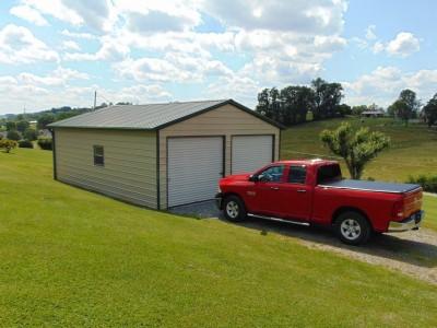 Garage | Vertical Roof | 22W x 31L x 9H