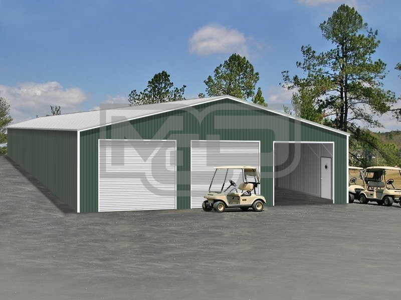 Metal Shop Building | Vertical Roof | 40W x 60L x 12H |  Steel Buildings